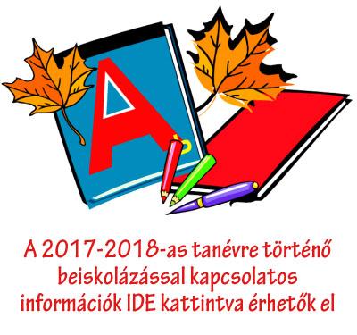 A 2017-2018as tanév beiskolázási információi IDE kattintva érhetők el!